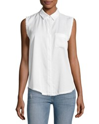 Dl1961 N7th And Kent Sleeveless Button Down Top White
