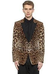 Dolce And Gabbana Leopard Printed Satin Evening Jacket