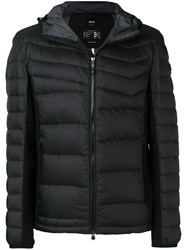 Hugo Boss Hooded Padded Jacket Black