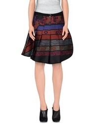 Hache Knee Length Skirts Brick Red