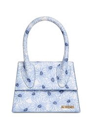 Jacquemus Le Grand Chiquito Printed Leather Bag Blue