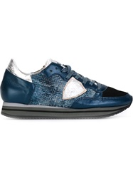 Philippe Model Sequin Embellished Sneakers Blue