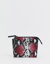 French Connection Lea Snake Zip Purse Pink