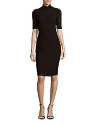 1.State Solid Lace Sheath Dress Black