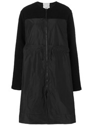 Lost And Found Rooms Drawstring Oversized Coat Women Polyester Xs Black