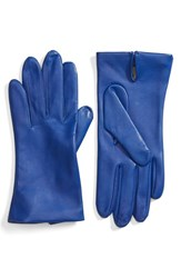 Fownes Brothers Women's Short Leather Gloves Electric Blue