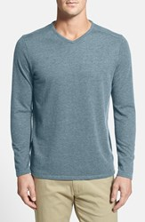 Men's Big And Tall Tommy Bahama 'Sedona Sands' V Neck Sweater Dusty Larkspur