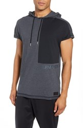 Under Armour Pursuit Short Sleeve Hoodie Black Black Stealth Gray