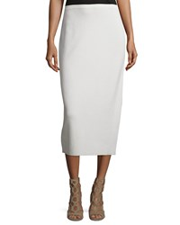 Eileen Fisher Washable Silk Cotton Midi Pencil Skirt Women's Bone