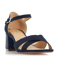 Linea Martini Heatseal Block Sandals Navy