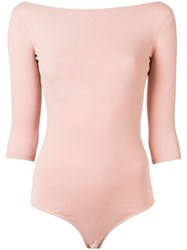 Acne Studios Boat Neck Leotard Pink