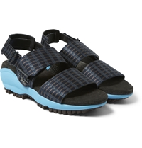 Lanvin Satin And Rubber Sports Sandals