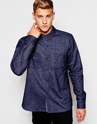 D Struct Templehof Brushed Flannel Shirt Navy
