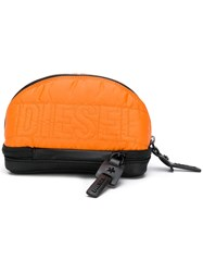 Diesel Logo Quilted Purse Yellow And Orange