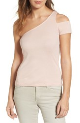 Splendid Women's One Shoulder Top Pink Beige