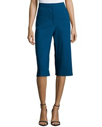 Zac Posen Straight Leg Culotte Pants Night Fall Nightfall