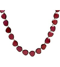 Annoushka 18Ct Rose Gold And Garnet Shard Necklace