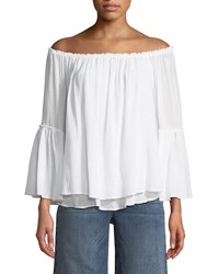Bailey 44 Bahama Off The Shoulder Layered Top White