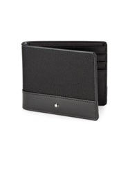 Montblanc Textured Nylon And Leather Wallet Black