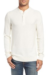 Bonobos Men's Merino Wool Knit Henley Heather Snow