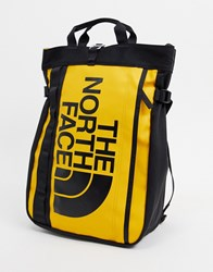 The North Face Base Camp Tote Bag In Yellow