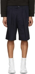 Acne Studios Navy Alex H Twill Shorts
