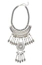 Junior Women's Leith Crystal Coin Fringe Cord Statement Necklace