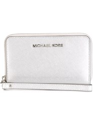 Michael Michael Kors 'Jet Set Travel' Wallet Metallic