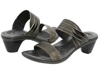Naot Footwear Isis Metal Leather Women's Slide Shoes Gray