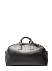 Campbell Cole Leather Overnight Bag Black