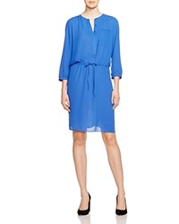 Nydj Pleat Back Shirt Dress Azul