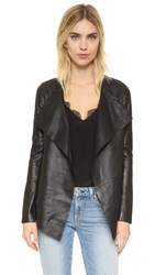 Mackage Gretal Leather Jacket Black