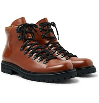 Common Projects Polished Leather Boots Brown