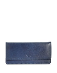 Tusk Madison Leather Gusseted Clutch Navy