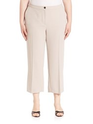Marina Rinaldi Plus Size Solid Short Cropped Pants Colonial