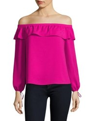 Cooper And Ella Leticia Off The Shoulder Blouse Hot Pink