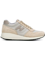 Hogan Lateral Patch Sneakers Nude Neutrals