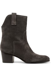 Sigerson Morrison Kimmy Suede Ankle Boots Dark Brown