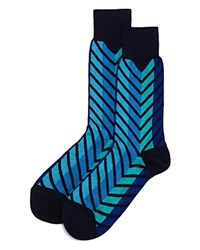 Bloomingdale's The Men's Store At Exploded Chevron Socks 100 Exclusive Blue Multi