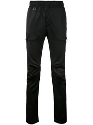 Roar Cargo Pocket Slim Fit Track Pants Black