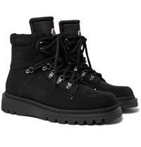 Moncler Egide Suede And Nylon Boots Black