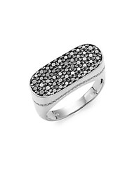 Effy Sterling Silver And Diamond Band Ring