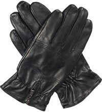 Dents Bilbury Fleece Lined Leather Biker Gloves Black