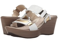 Naot Footwear Treasure White Snake Leather Gold Leather Women's Wedge Shoes