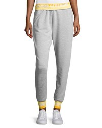 Opening Ceremony Heathered Jersey Elastic Logo Sweatpants Gray