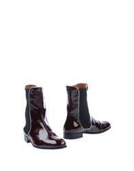 Ras Ankle Boots Maroon