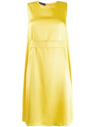 Gianluca Capannolo Belted Midi Dress Yellow