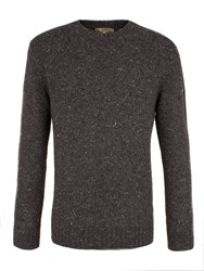 Gibson Men's Chunky Crew Neck Donegal Sweater Charcoal