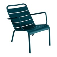 Fermob Luxembourg Low Armchair Acapulco Blue