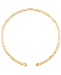 Macy's Pyramid Stud Collar Necklace In 14K Gold Vermeil